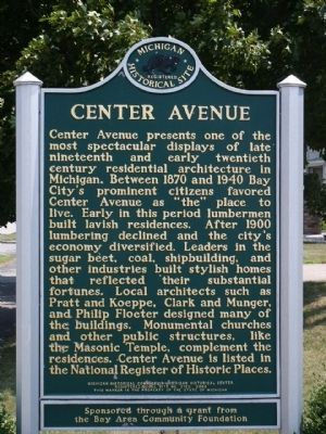 Center Avenue Marker image. Click for full size.