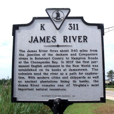 James River Marker image. Click for full size.