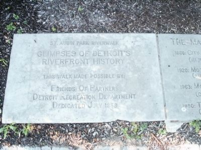 Glimpses of Detroit's Riverfront History Marker - Stone 1 image. Click for full size.