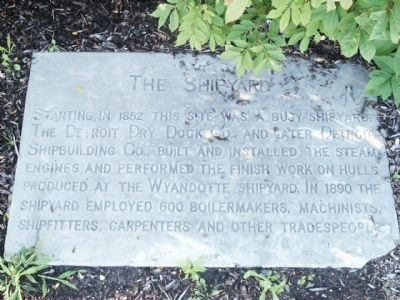 Glimpses of Detroit's Riverfront History Marker - Stone 3 image. Click for full size.
