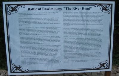 "Battle of Rowlesburg: ""The River Road"" Marker image. Click for full size."