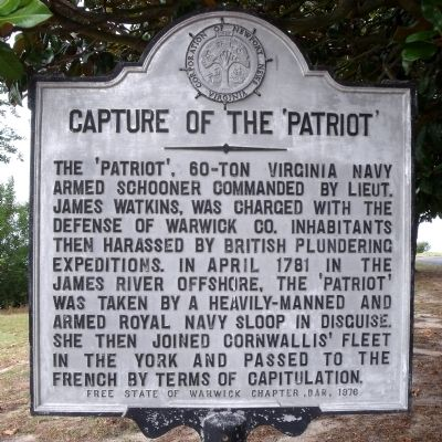 Capture Of The 'Patriot' Marker image. Click for full size.