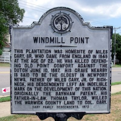 Windmill Point Marker image. Click for full size.