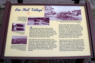 Lee Hall Village Marker image. Click for full size.