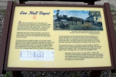 Lee Hall Depot Marker image. Click for full size.