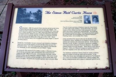 The Simon Reid Curtis House Marker image. Click for full size.