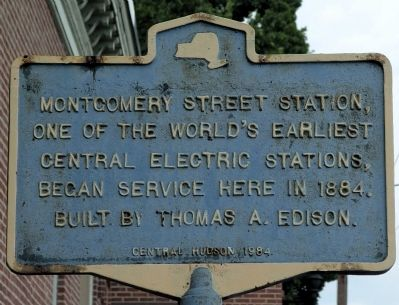 Montgomery Street Station Marker image. Click for full size.