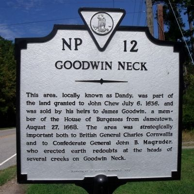 Goodwin Neck Marker image. Click for full size.