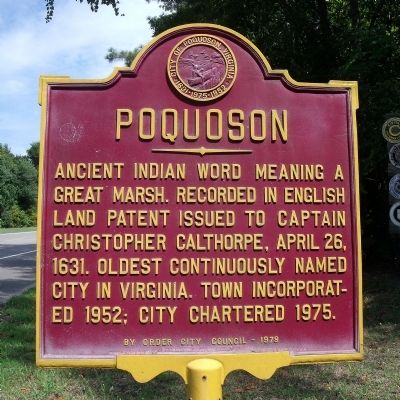 Poquoson Marker image. Click for full size.