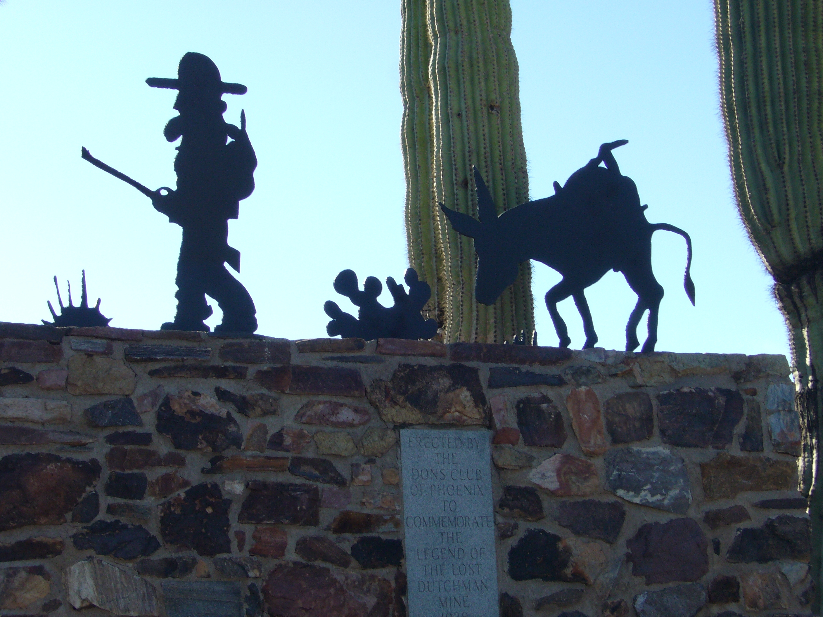 Sculpture on the Top of the Lost Dutchman Monument
