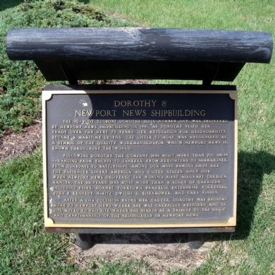 Dorothy & Newport News Shipbuilding Marker image. Click for full size.