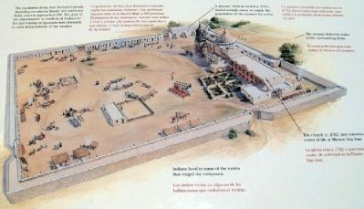 Concept of Mission San José on Marker image. Click for full size.