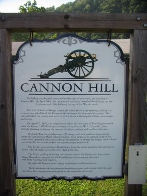 Cannon Hill Marker image. Click for full size.