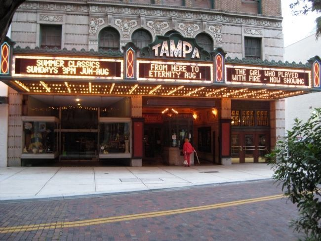 The Tampa Theatre Marquee and Box Office image. Click for full size.