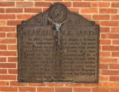 De L Aigle Brick Yards Marker image. Click for full size.