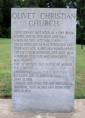 Olivet Christian Church Marker image. Click for full size.