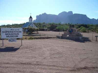 Superstition Mountain Historical Society Marker image. Click for full size.
