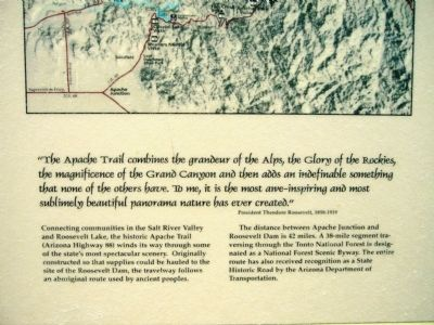 Welcome to the Apache Trail Historic Road Marker image. Click for full size.
