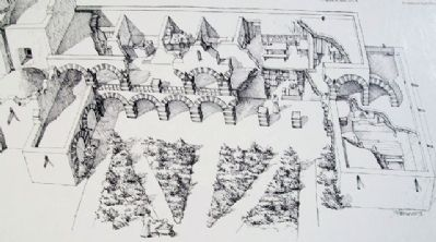 Drawing of The Convento on Marker image. Click for full size.