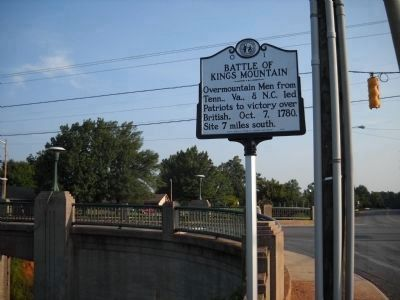 Marker in Kings Mountain, NC image. Click for full size.