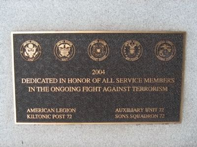Small Plaque In Front image. Click for full size.