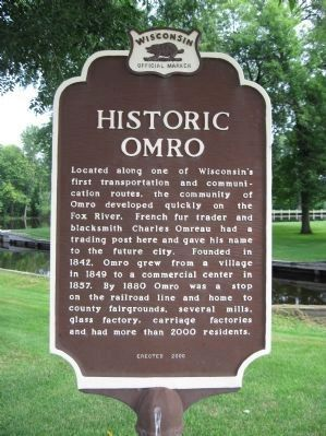 Historic Omro Marker image. Click for full size.