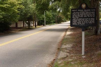 Great Indian Trading Path Marker, looking west along McDowell Street image. Click for full size.