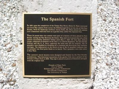 The Spanish Fort Marker image. Click for full size.
