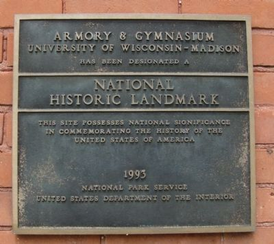 Armory & Gymnasium Marker image. Click for full size.