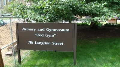 Armory & Gymnasium Sign image. Click for full size.