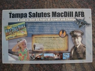 Tampa Salutes MacDill AFB Marker image. Click for full size.