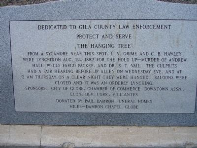 The Hanging Tree Marker image. Click for full size.