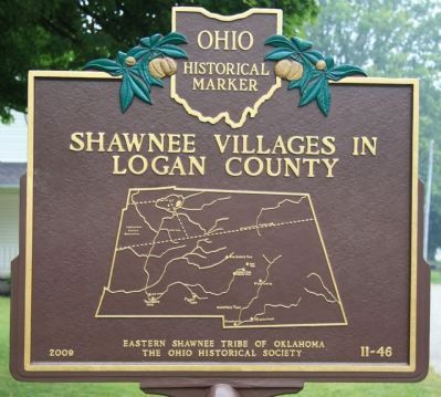 Shawnee Villages in Logan County Marker image. Click for full size.