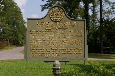 Georgia 4-H Clubs Marker image. Click for full size.
