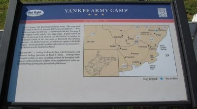 Yankee Army Camp Marker image. Click for full size.