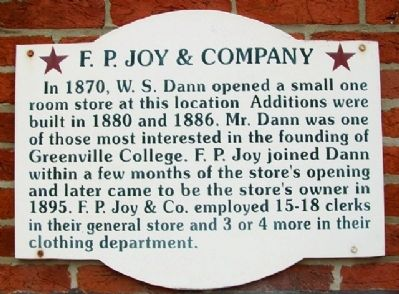 F. P. Joy & Company Marker image. Click for full size.