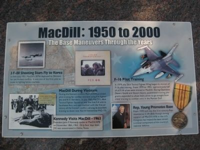 MacDill: 1950 to 2000 Marker image. Click for full size.