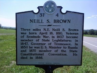 Neill S. Brown Marker image. Click for full size.