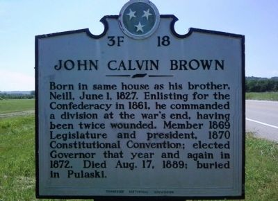 John Calvin Brown Marker image. Click for full size.