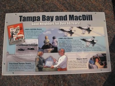 Tampa Bay and MacDill Marker image. Click for full size.