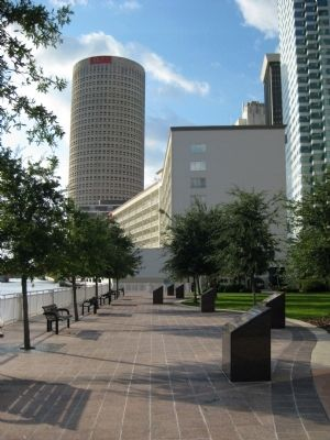 Tampa Bay and MacDill Marker at MacDill Park on the Riverwalk image. Click for full size.