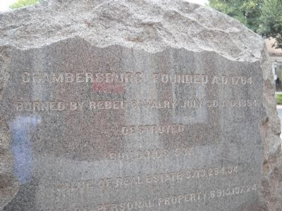 Chambersburg Founded A.D. 1764 Marker image. Click for full size.