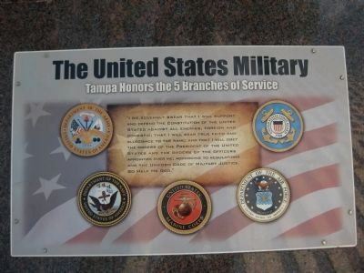 Tampa Honors the 5 Branches of Service image. Click for full size.
