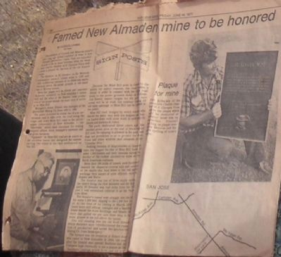 El Senator Mine Dedication Article From 1977 image. Click for full size.
