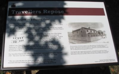 Travellers Repose Marker image. Click for full size.