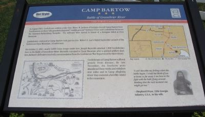 Camp Bartow Marker image. Click for full size.