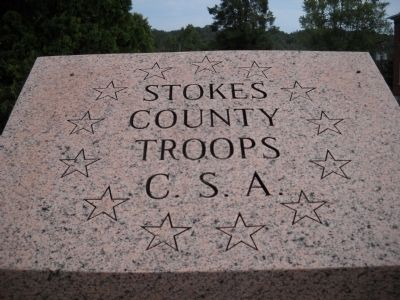 Stokes County Troops C.S.A Marker image. Click for full size.