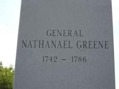 General Nathanael Greene Marker image. Click for full size.