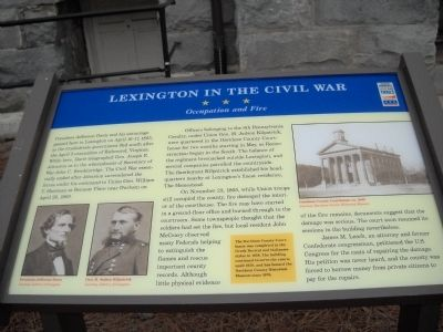 Lexington in the Civil War Marker image. Click for full size.