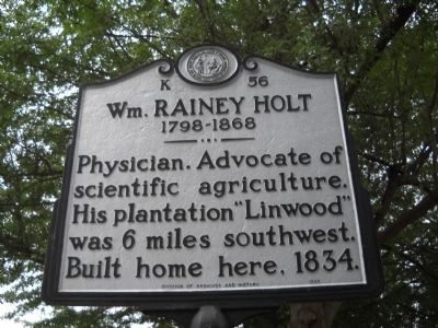 Wm. Rainey Holt Marker image. Click for full size.
